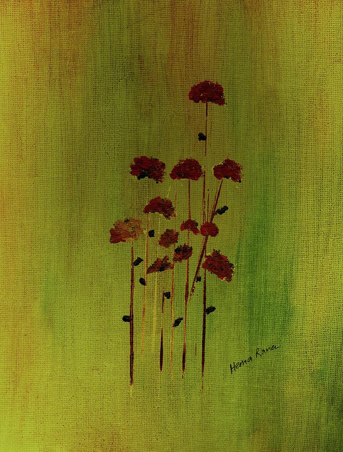 Minimalism Painting - Abstract Flowers by Hema Rana