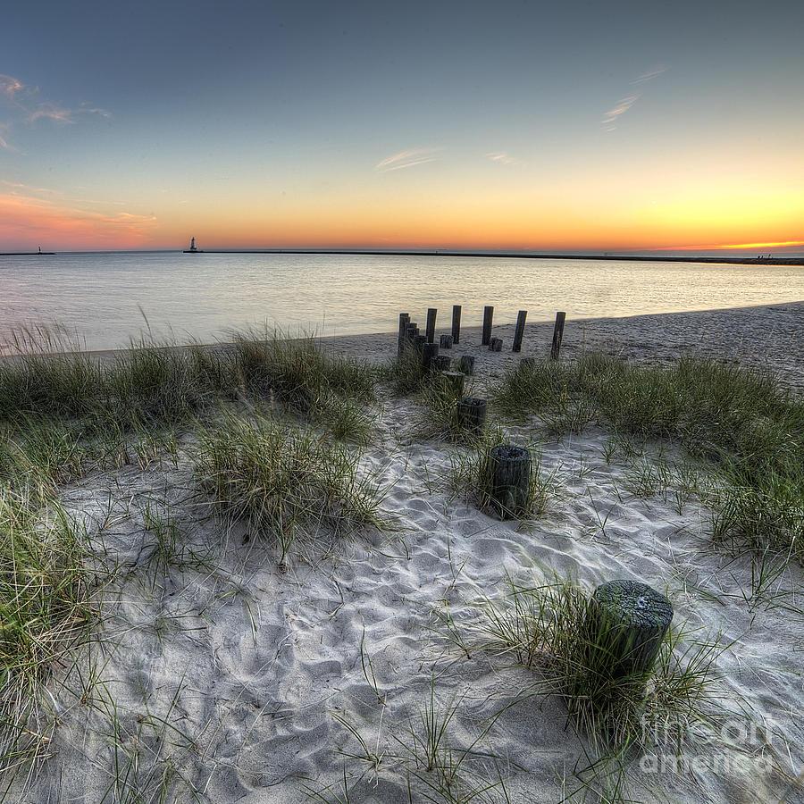 Ludington Photograph - Ludington Beach by Twenty Two North Photography