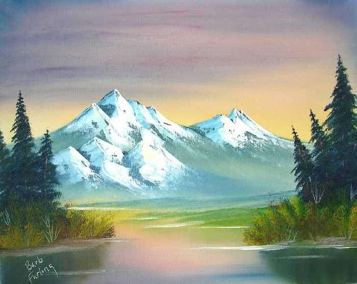 Mountains Painting - Autumn Delight by Barbara Furlong