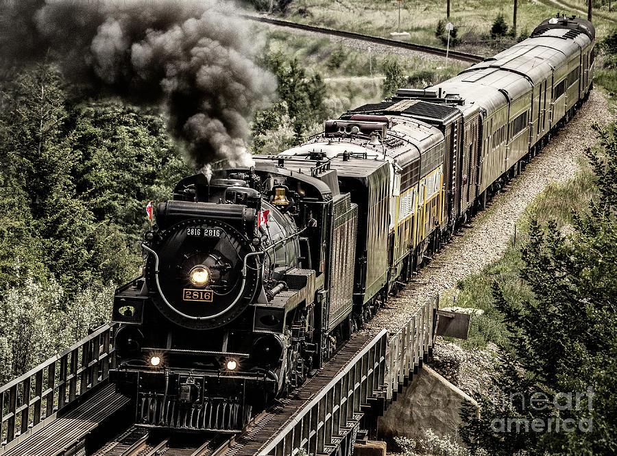 Alberta Photograph - 2816 Empress At Seebee Crossing by Brad Allen Fine Art