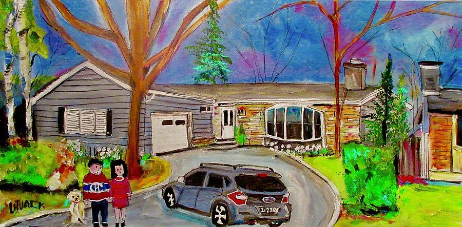 Subaru Painting - 29 Aldercrest Dollard Des Ormeaux The Family by Michael Litvack
