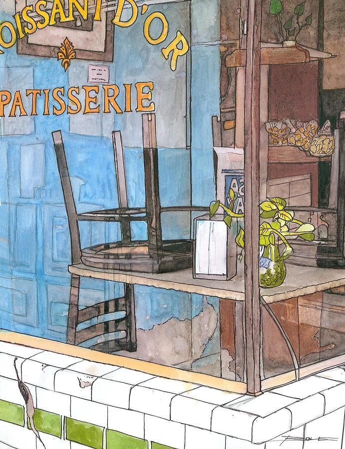 New Orleans Painting - 29  Croissant Dor Patisserie by John Boles