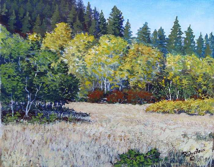Little Cottonwood Canyon Painting by Scott Robertson