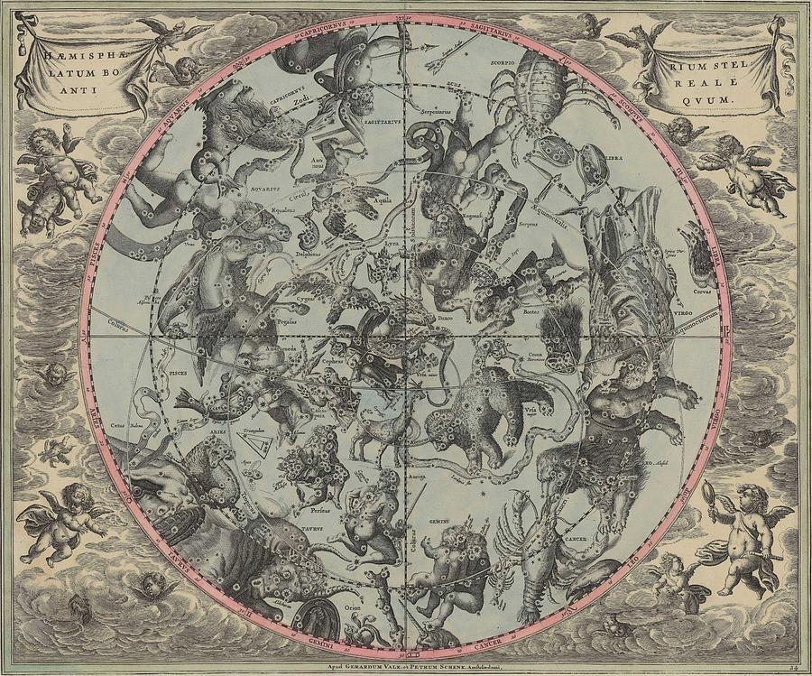 Map celestial map old map vintage art wall world map circa map celestial map old map vintage art wall world map circa 1600 drawing by art makes happy publicscrutiny Image collections