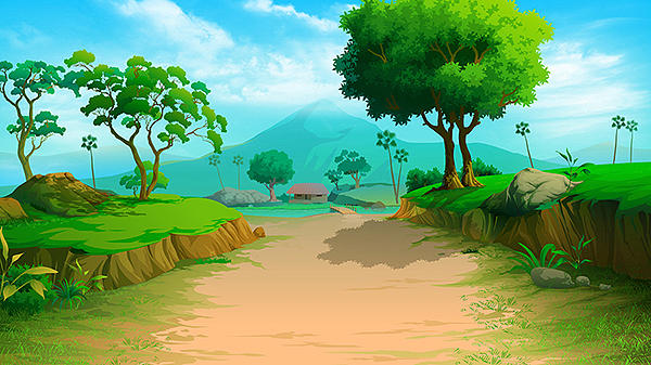 2d background 3 painting by rahul parmar