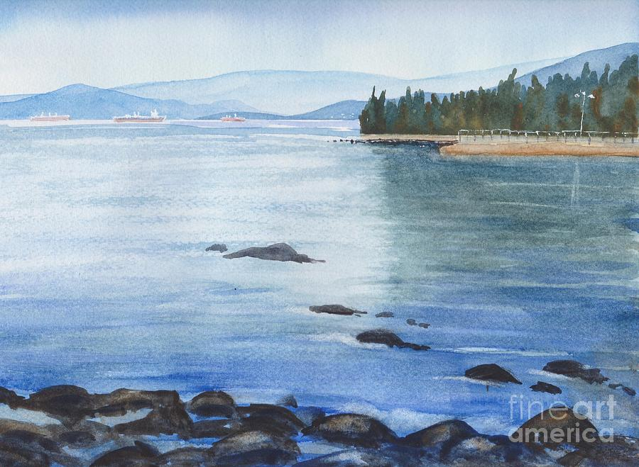 2nd Beach, Vancouver Painting by Yohana Knobloch