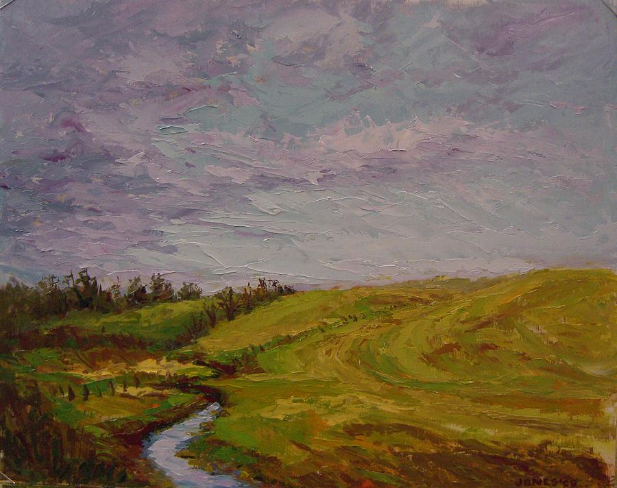 Landscape Painting - 2nd Clearing Storm by Carolyn Jones