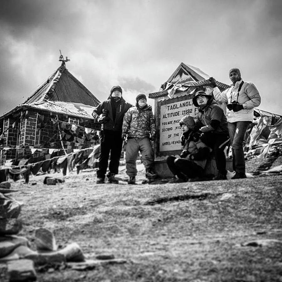 Work Photograph - 2nd Highest Motorable Pass by Aleck Cartwright