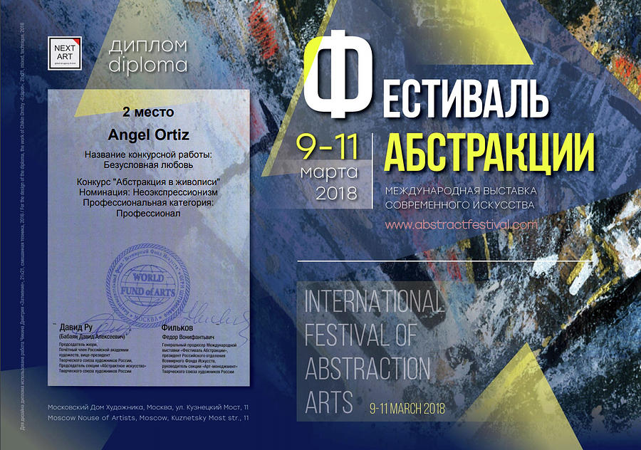 2nd place in Art Festival in Moscow by Angel Ortiz