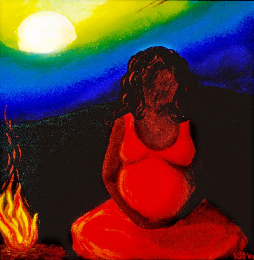 Pregnacy Painting - 2nd Stage Of Womanhood by Lisa Elizabeth