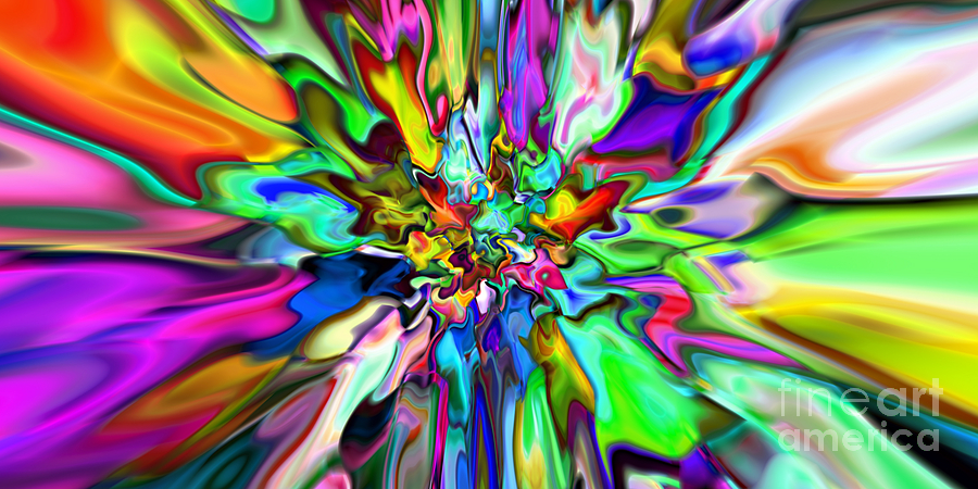 Abstract Digital Art - 2x1 Abstract 315 by Rolf Bertram