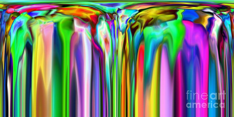 Abstract Digital Art - 2x1 Abstract 320 by Rolf Bertram