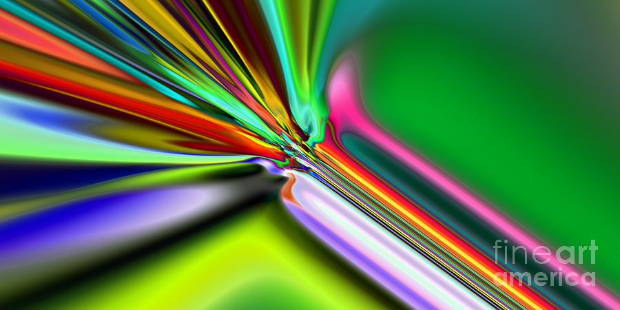 Abstract Digital Art - 2x1 Abstract 325 by Rolf Bertram