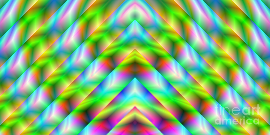 Abstract Digital Art - 2x1 Abstract 341 by Rolf Bertram