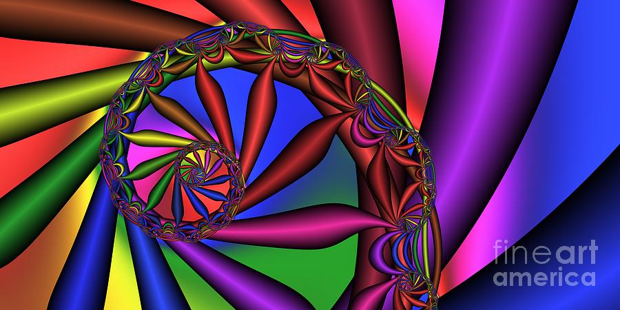 Abstract Digital Art - 2x1 Abstract 352 by Rolf Bertram