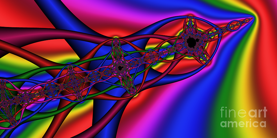 Abstract Digital Art - 2x1 Abstract 361 by Rolf Bertram