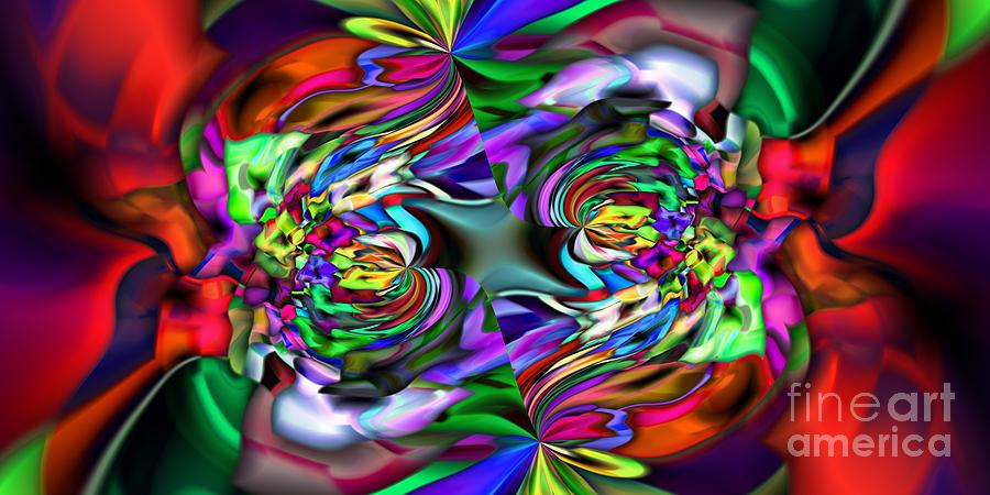 Abstract Digital Art - 2x1 Abstract 407 by Rolf Bertram