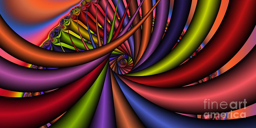 Abstract Digital Art - 2x1 Abstract 430 by Rolf Bertram