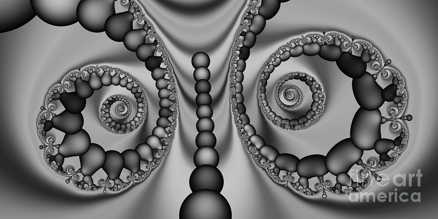 Abstract Digital Art - 2x1 Abstract 438 Bw by Rolf Bertram