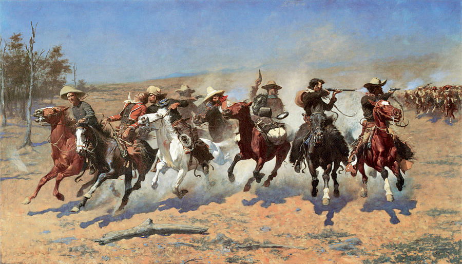 A Dash For The Timber Photograph - A Dash for the Timber by Frederic Remington