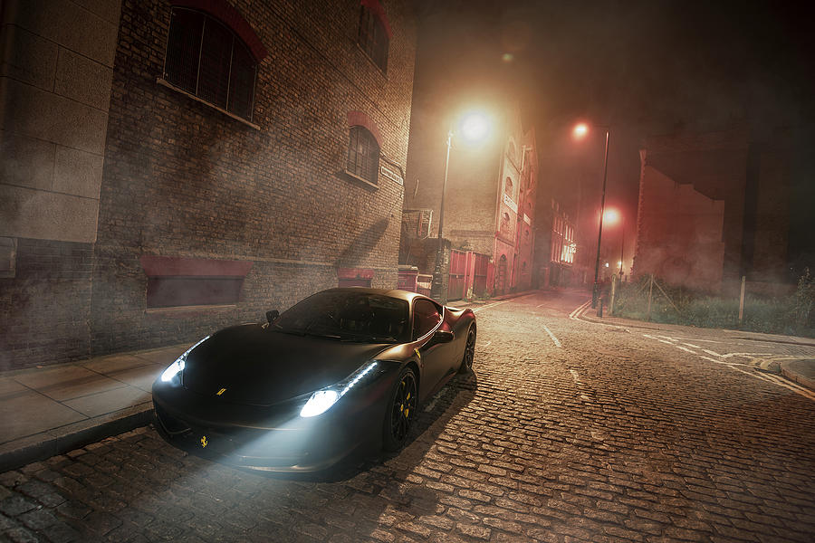 Ferrari Photograph - A Foggy Evening In London by George Williams