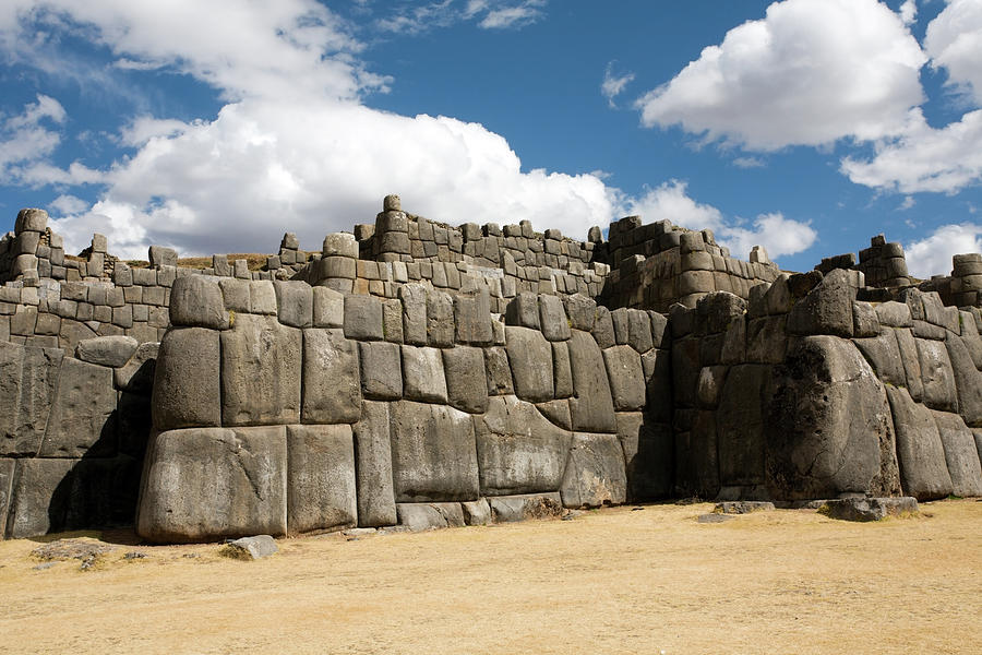 A Section Of The Wall Of Saksaywaman Photograph