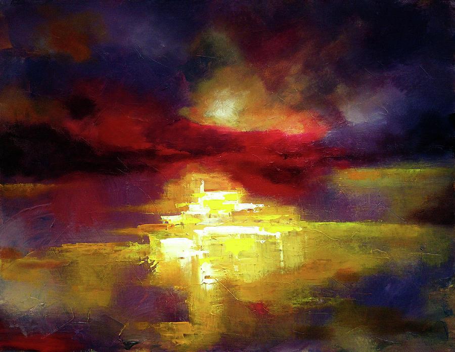 8e5de1cb5 Abstract Landscape. Contemporary modern art painting ...