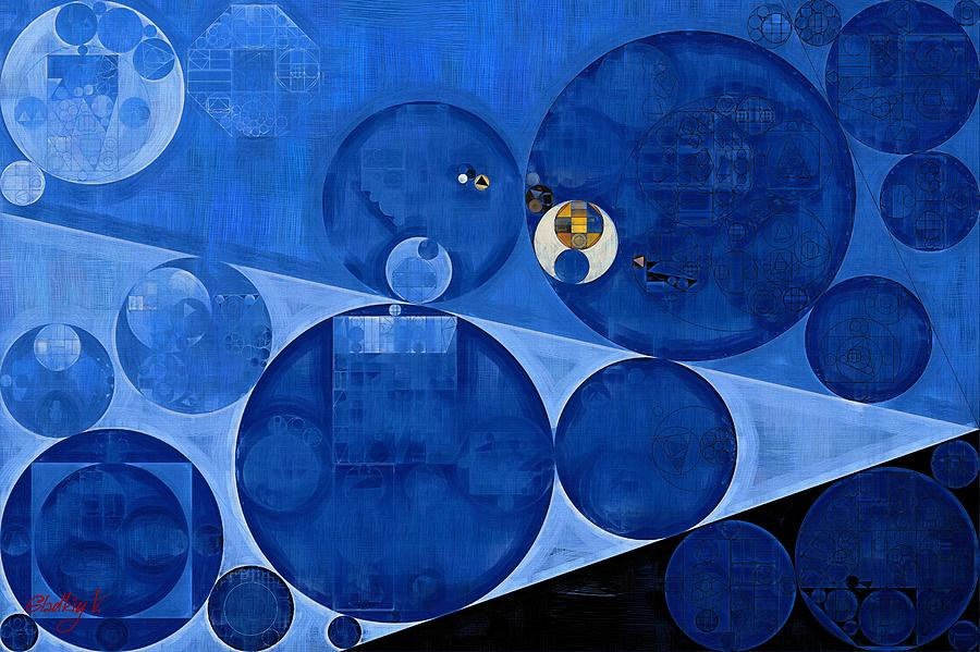 Symbol Digital Art - Abstract Painting - Denim by Vitaliy Gladkiy