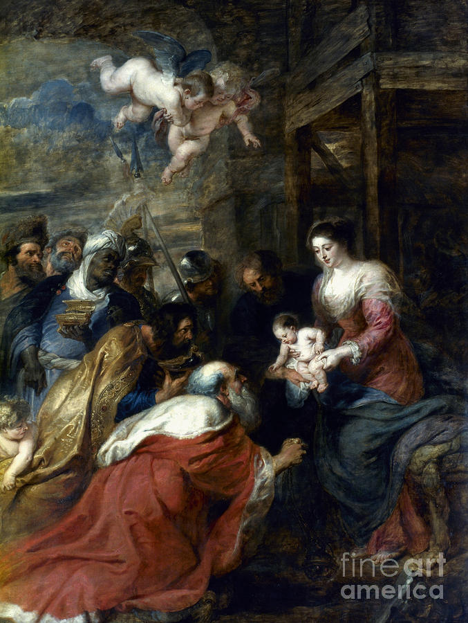 Adoration Photograph - Adoration Of The Magi by Granger