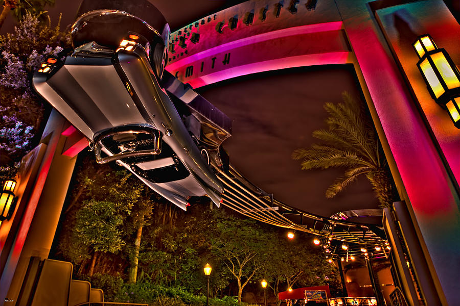 Disney Photograph - Aerosmith Rock n Roller Coaster Hdr by Jason Blalock