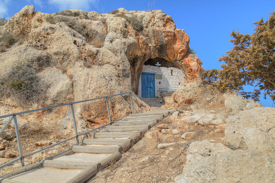 Paralimni Photograph - Agioi Saranta Cave Church - Cyprus by Joana Kruse