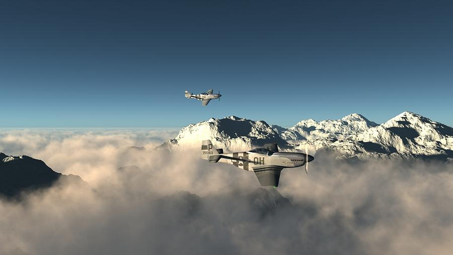 Aircraft Digital Art - Aircraft by Dorothy Binder
