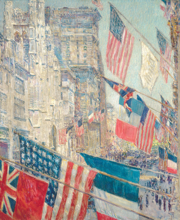 Hassam Painting - Allies Day, May 1917 3 by Childe Hassam