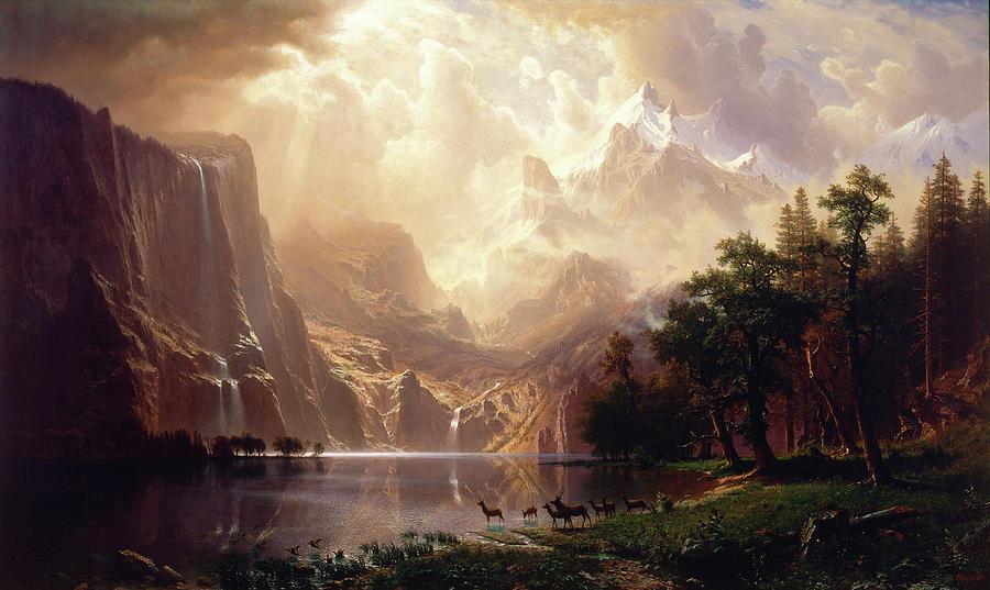 Albert Bierstadt Painting - Among The Sierra Nevada by Albert Bierstadt