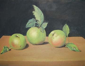 Apple Painting - 3 Apples by Carmen Durden