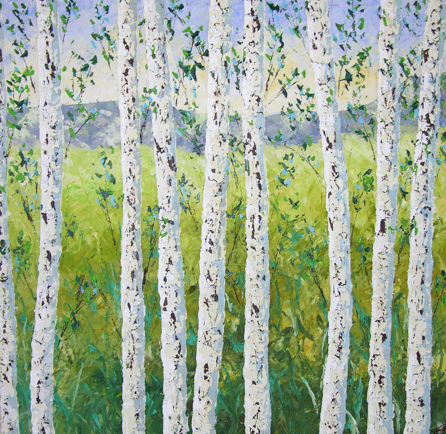 Colorado Painting - Aspen Trees Colorado by Frederic Payet