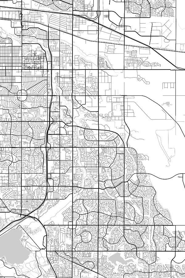 Aurora Colorado Usa Dark Map Digital Art By Jurq Studio - Colorado usa map