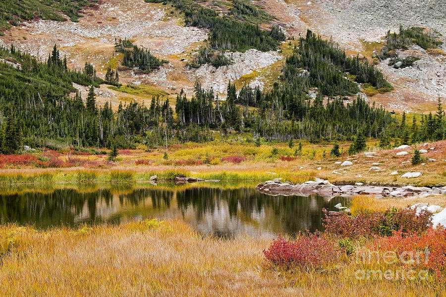 Autumn At Brainard Lake And The Indian Peaks Photograph