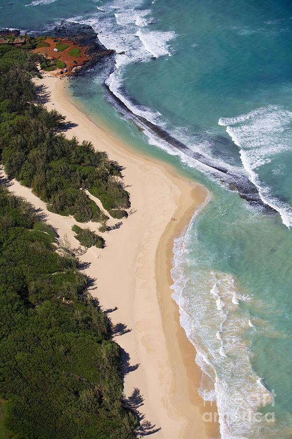 Aerial Photograph - Baldwin Beach by Ron Dahlquist - Printscapes