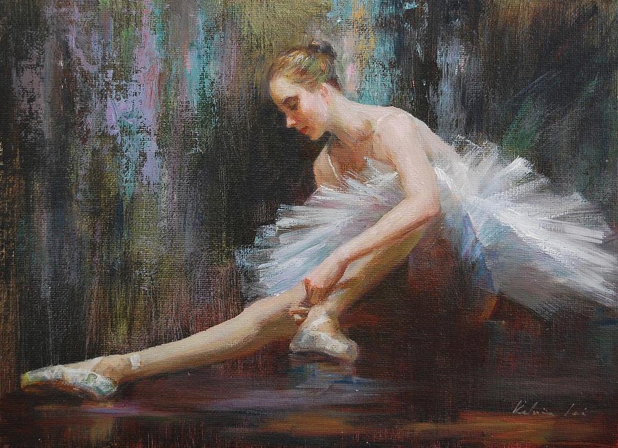 Figurative Painting - Ballerina by Kelvin  Lei