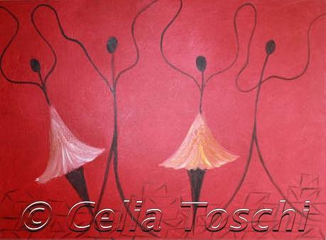 Ballet Painting - Ballerinas by Celia Toschi