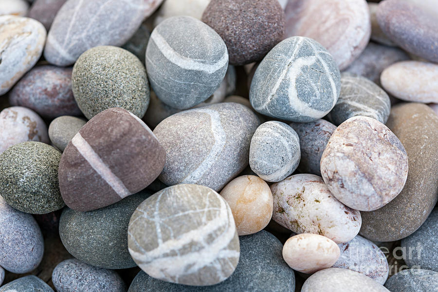 Beach pebbles by Elena Elisseeva
