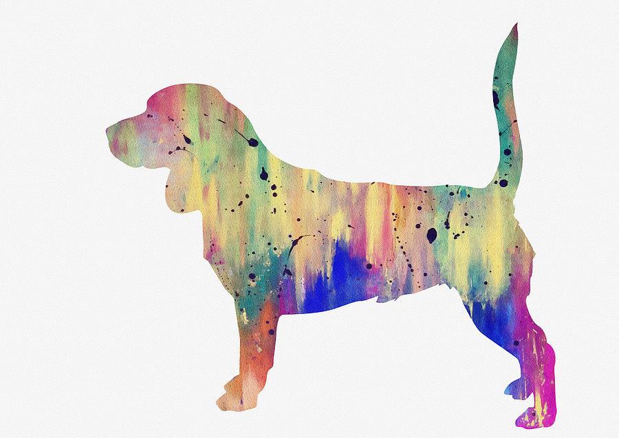 Beagle Digital Art - Beagle-colorful by Erzebet S