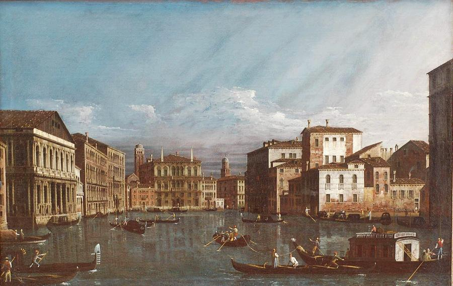 Town Painting - Bernardo Bellotto by MotionAge Designs