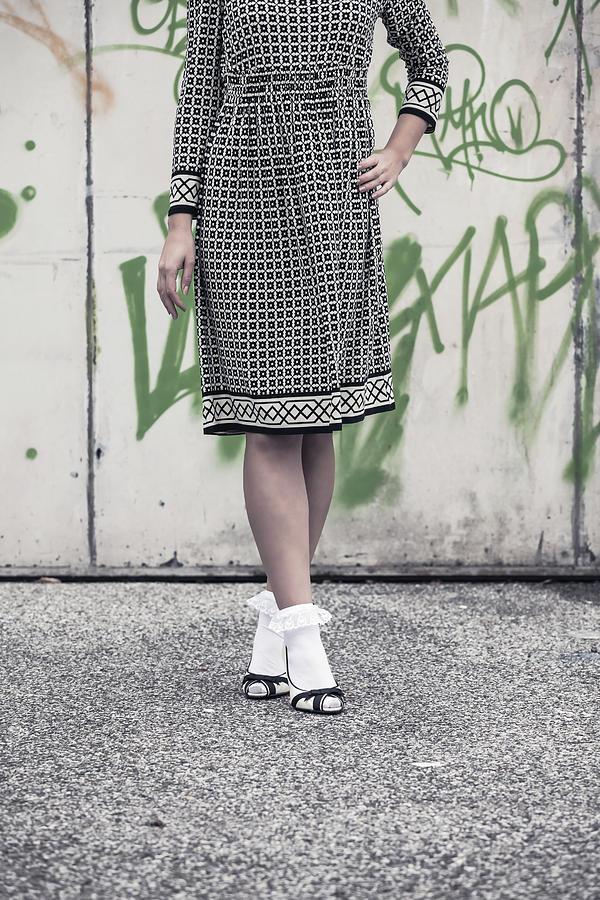Female Photograph - Black And White by Joana Kruse