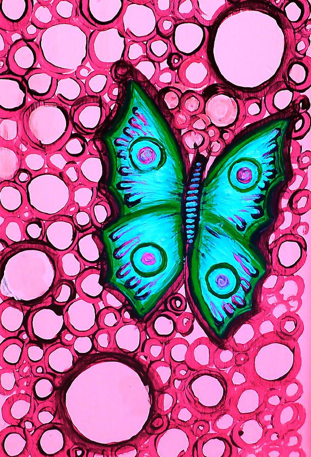 Blue Painting - Blue Butterfly by Brenda Higginson