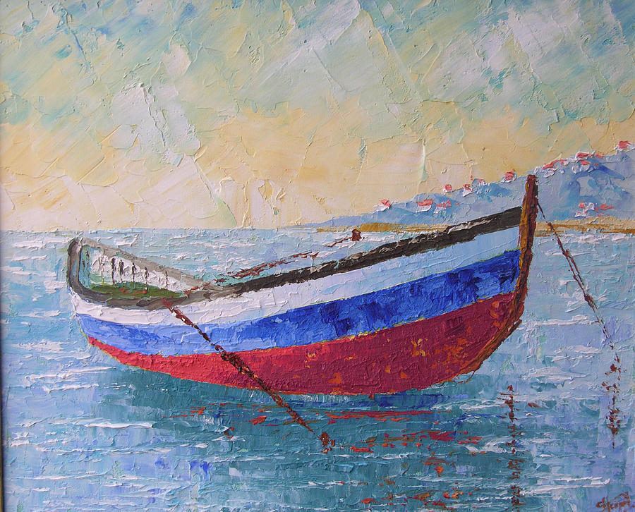 Boat Painting - Boat Of Provence  by Frederic Payet