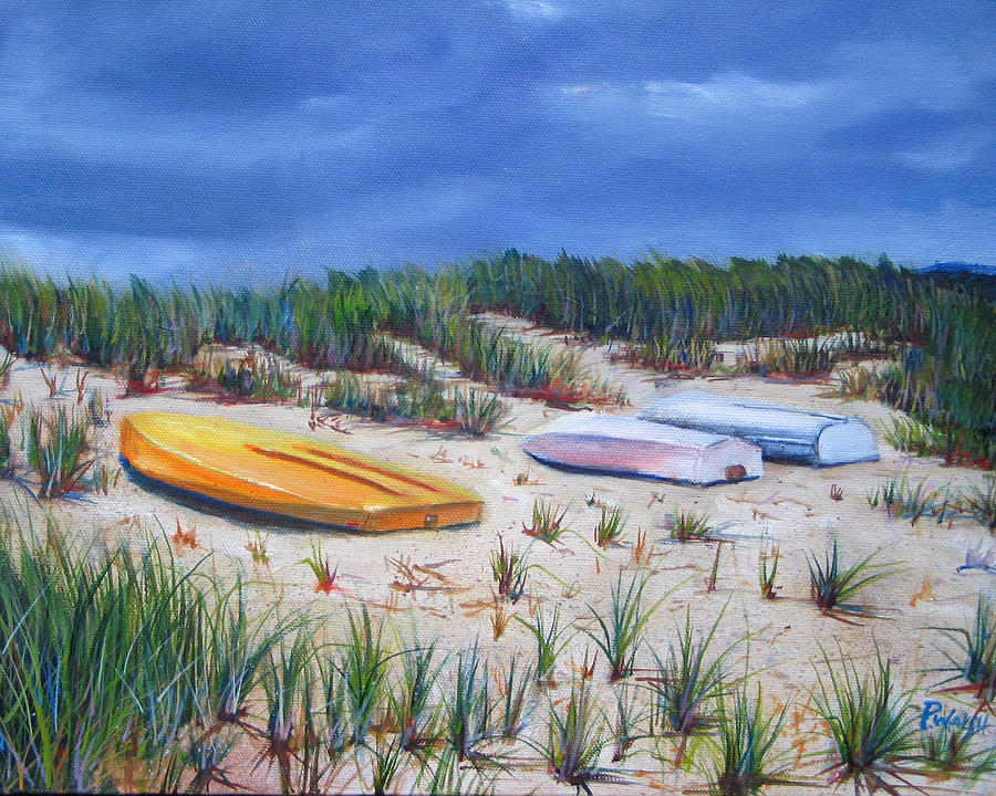 Cape Cod Painting - 3 Boats by Paul Walsh