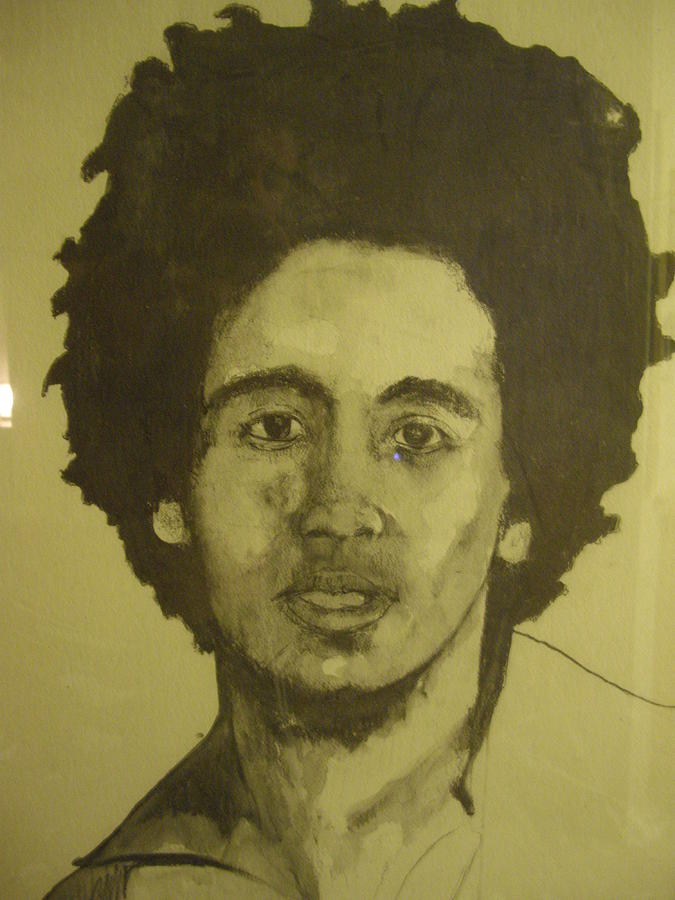 Bob Marley Painting By Robert Cunningham