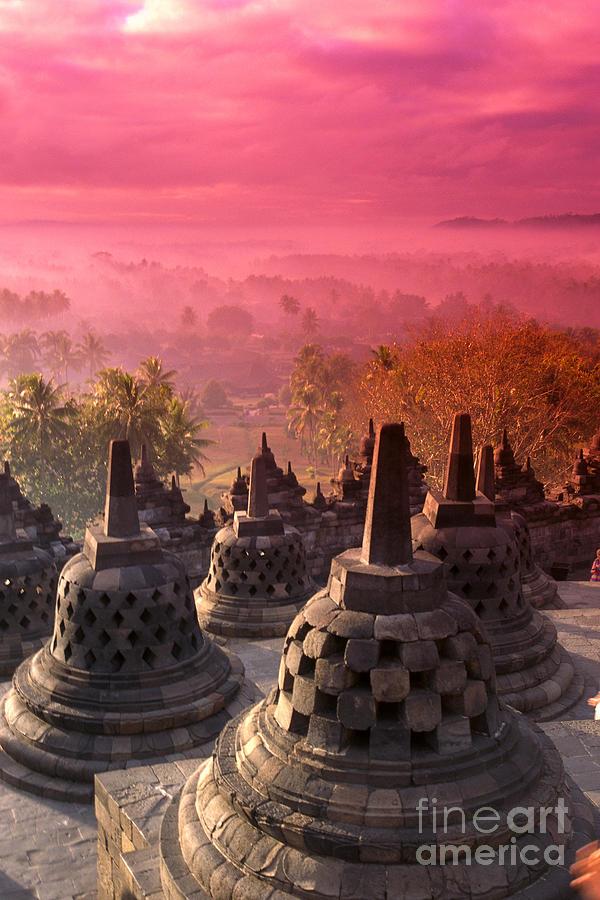 Ancient Photograph - Borobudor Temple by Gloria & Richard Maschmeyer - Printscapes